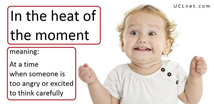 English Idiom: In the heat of the moment
