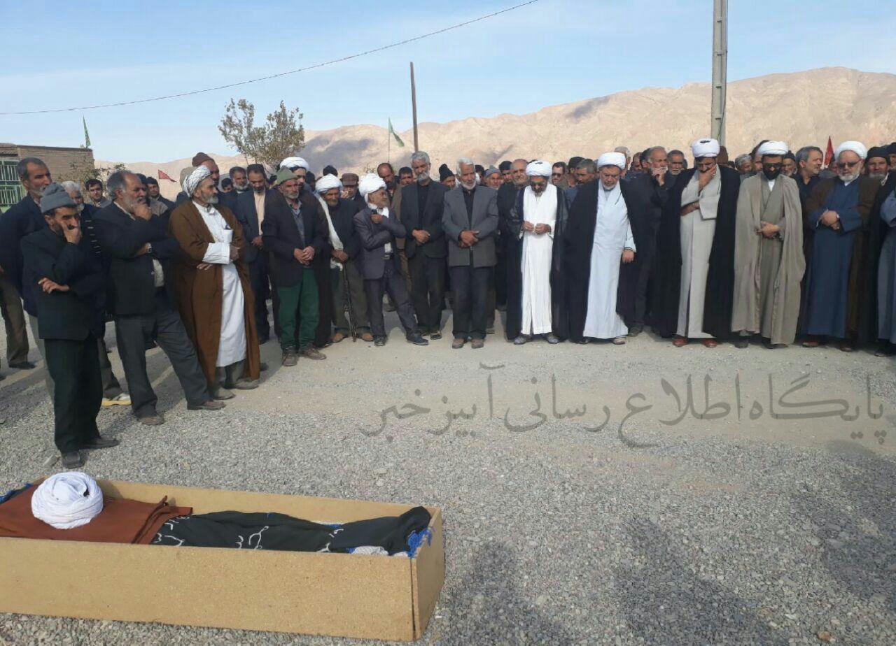 مراسم تشییع وتدفین شادروان حاج میرمحمدجواد حقی درپیشبر