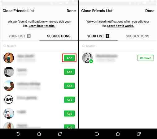 آموزش انتشار استوری فقط برای افراد خاص و کار با قابلیت close friends list