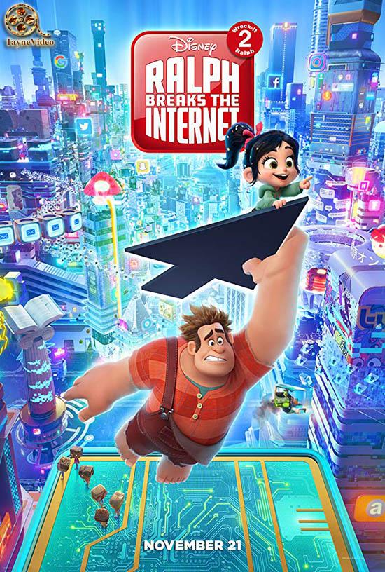 دانلود انیمیشن رالف اینترنت را خراب می کند - Ralph Breaks the Internet 2018