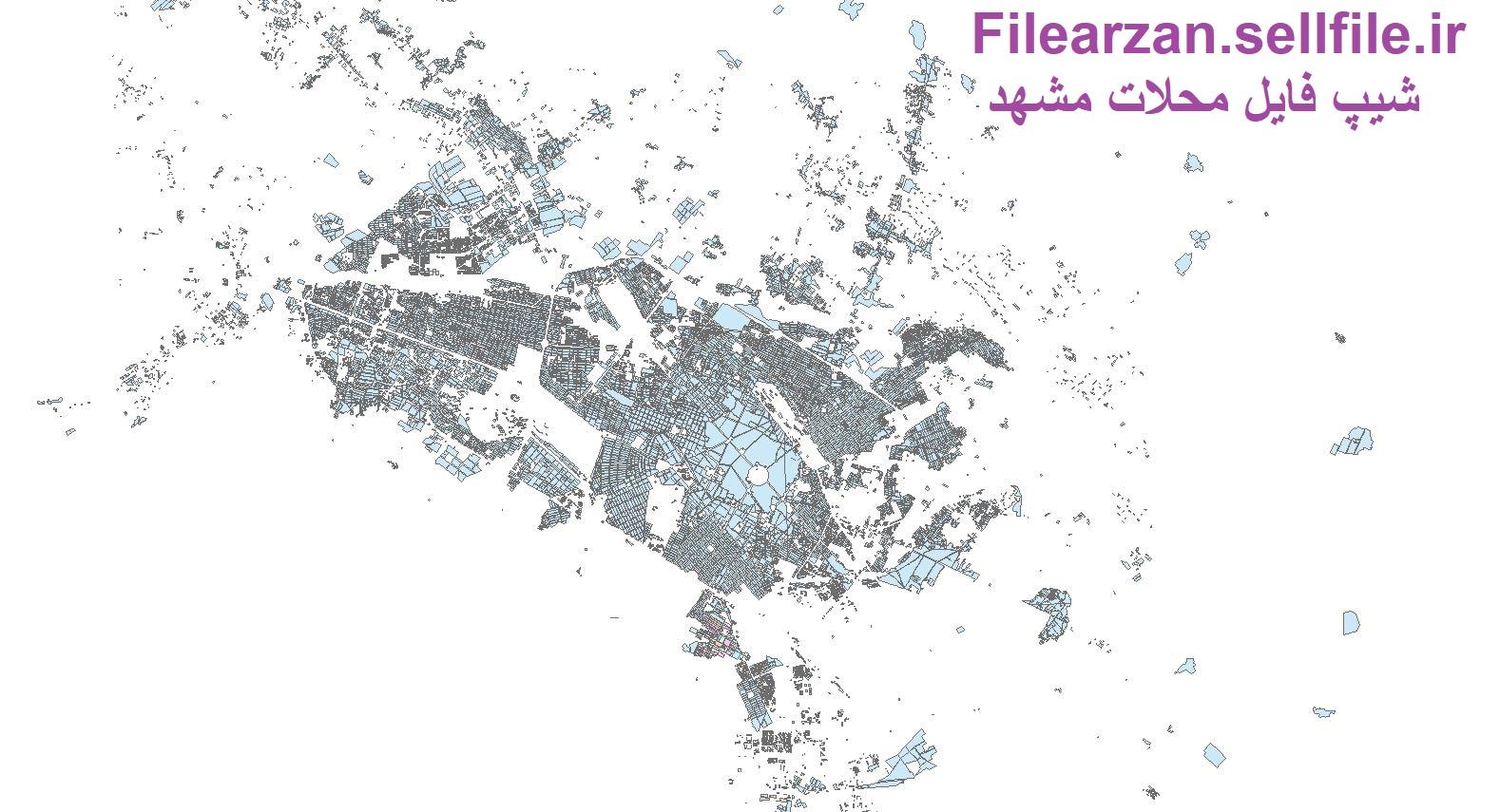 شیپ فایل محلات مشهد بصورت رایگان