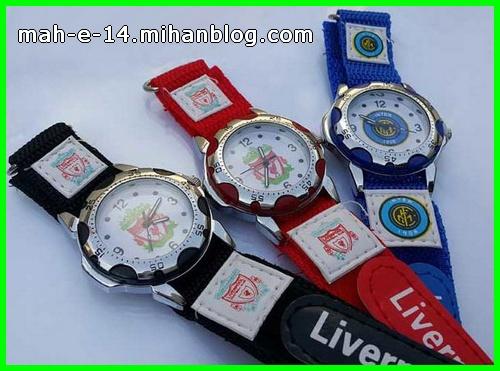 ساعت مچی رنگ آبی قرمز و مشکی مناسب استقلالی ها و پرسولیسی ها