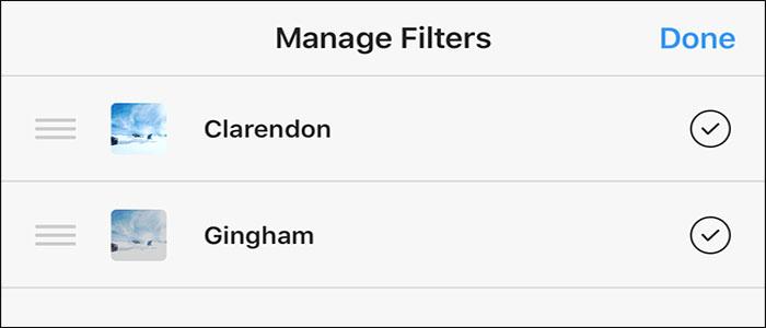 نحوه جابجا کردن و حذف کردن فیلترهای اینستاگرام