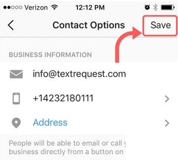 حذف شماره موبایل و گزینه Call از پروفایل تجاری اینستاگرام