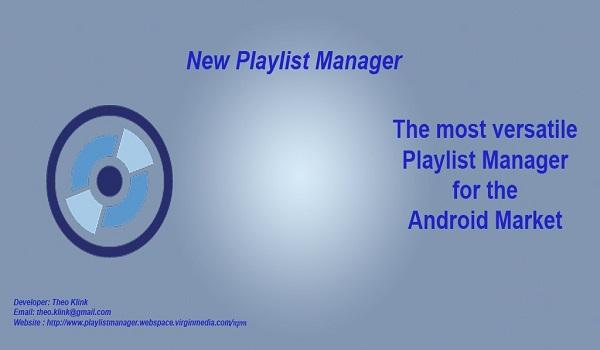 دانلود New Playlist Manager 2.50 - برنامه مدیریت لیست پخش موزیک اندروید