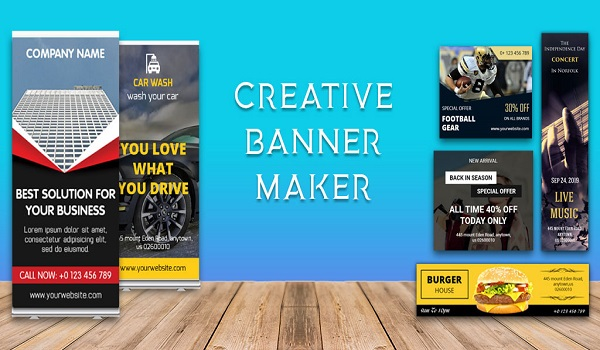 دانلود Banner Maker,Web Banner Ads, Roll Up Banners PRO 5.0 - برنامه ساخت بنر تبلیغاتی وب مخصوص اندروید