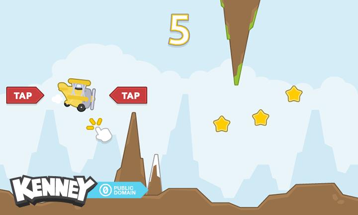 پک اسپرایت یک بازی به سبک Tappy Plane