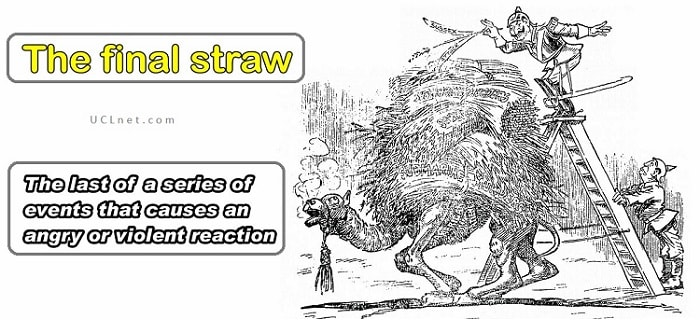 English idiom: the final straw