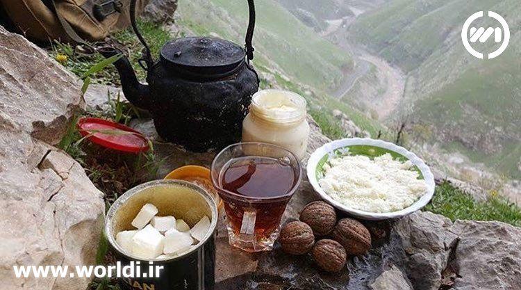 چای, صبحانه در کوه