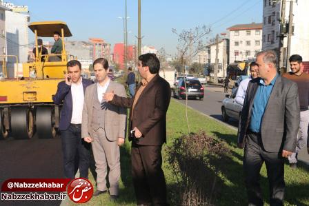 رییس شورای شهر رشت از آسفالت سطح منطقه یک شهر رشت
