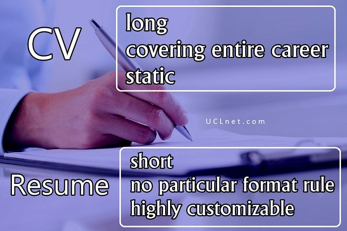CV Resume: the difference between them