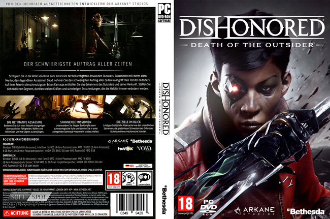 Dishonored Death of the Outsider Cover