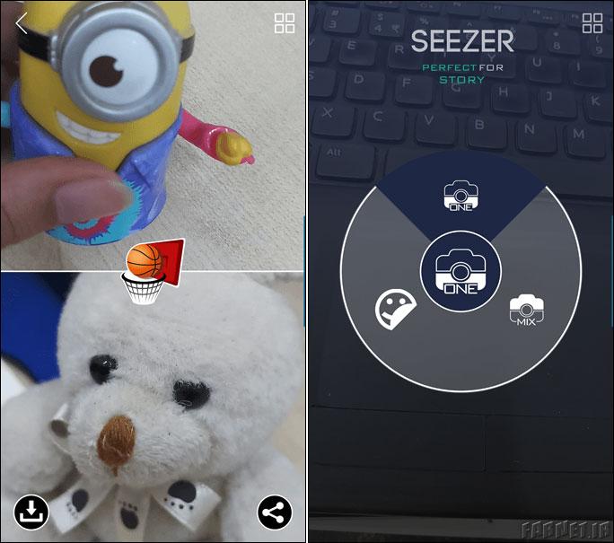 استفاده از برنامه Seezer  اجزا مختلف را به استوری اینستاگرام اضافه کنید