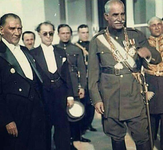 رضا شاه کبیر  با رهبر ترکیه اتاتورک