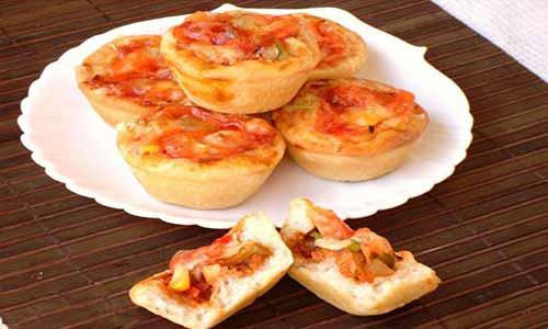 طرز تهیه فینگرفود کاپ کیک پیتزا