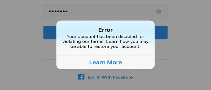 حل مشکل Your Account has been Disabled for Violating our Terms اینستاگرام