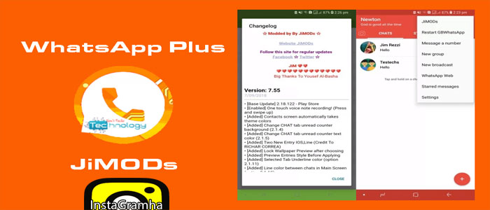 دانلود واتس آپ جیمود پلاس برای اندروید WhatsApp+ JiMODs نسخه ی قدیمی