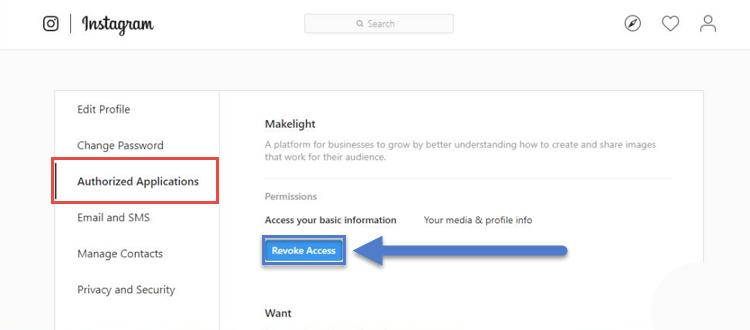 مشاهده و حذف برنامه هایی که از حساب کاربری اینستاگرام شما استفاده میکنند