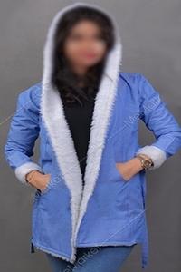 هودی بلند شیک دخترانه ارزان قیمت رنگ آبی