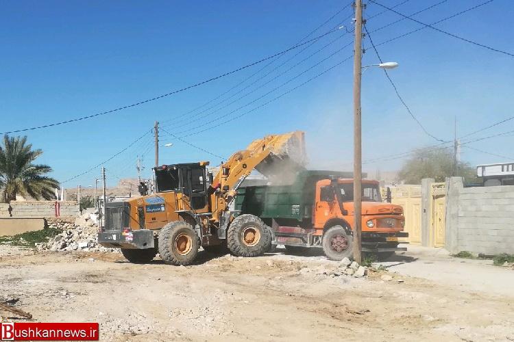 اجرای عملیات زیرسازی و آسفالت مسیر های دسترسی به گلزار شهدای شهر بوشکان