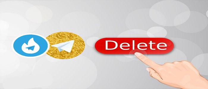 آموزش دیلیت اکانت هاتگرام و تلگرام طلایی