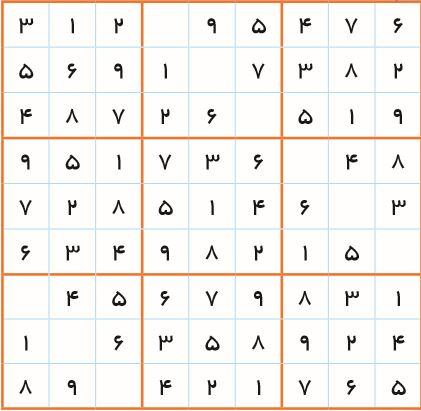 آموزش تصویری حل جدول شگفت انگیز(سودوکو)