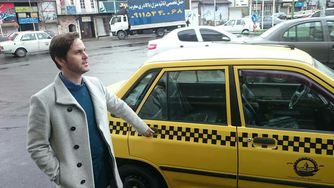 """سومین هفته """"سه شنبه بدون خودرو"""" در هوایی بارانی با تاکسی"""