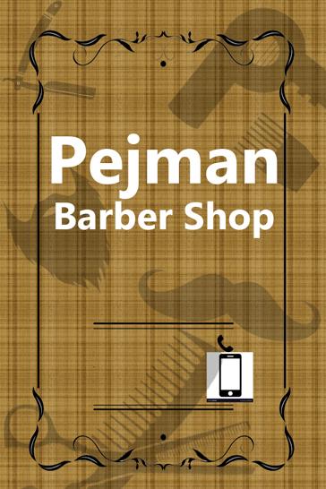 دانلود طرح لایه باز کارت ویزیت آرایشگاه مردانه , کارت ویزیت بنر تراکت