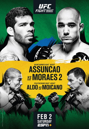 نتایج رویداد:  UFC Fight Night 144 : Assunção vs. Moraes 2