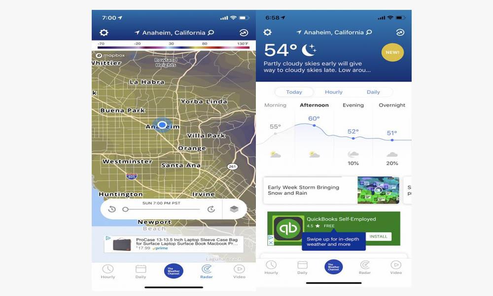 معرفی بهترین برنامه های آب و هوا برای موبایل آیفون