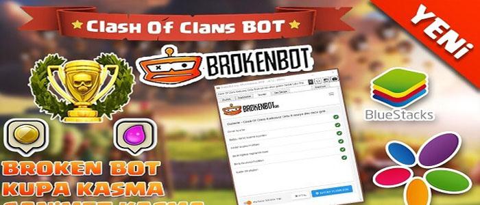 دانلود BrokenBot بروکن بات ربات کلش اف کلنز کامپیوتر