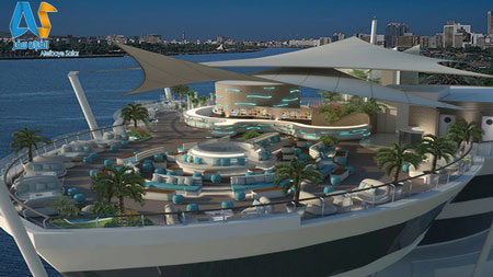 رستورانهای داخل کشتی در اسکله کریک دبی