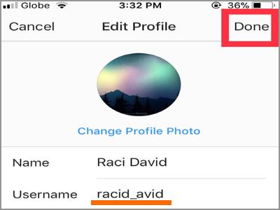 آموزش تغییر نام کاربری اینستاگرام