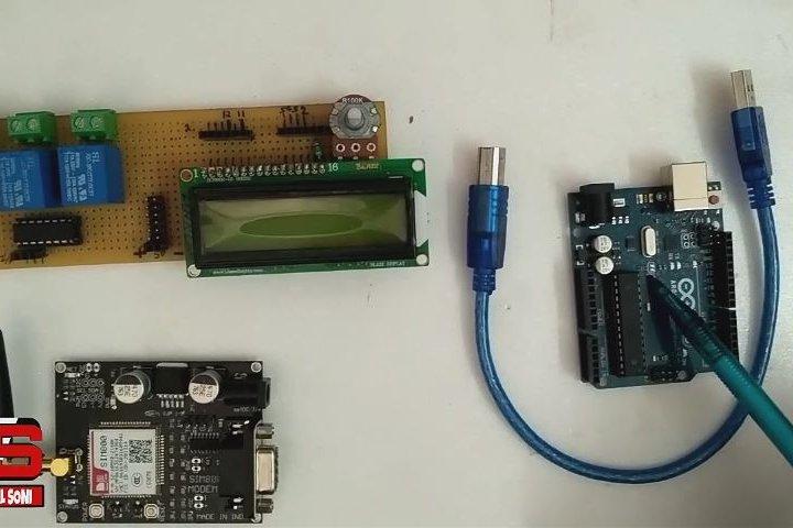 کنترل رله توسط Sim800 (اردونیو)