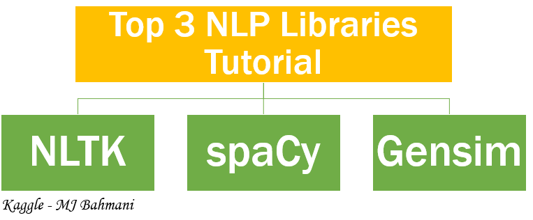 Top 3 NLP Libraries Tutorial( NLTK+spaCy+Gensim) | Kaggle