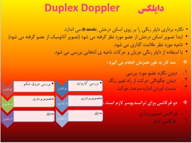 نمونه سوالات تستی تشریحی داپلس