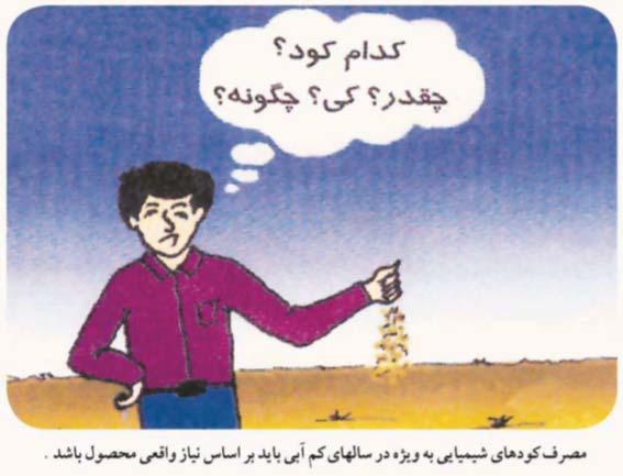 مصرف بهینه کود در شرایط خشکسالی
