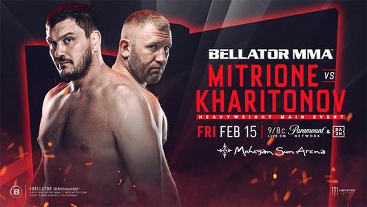 دانلود مسابقات بلاتور  215 | Bellator 215: Mitrione vs. Kharitonov  +تک مبارزه