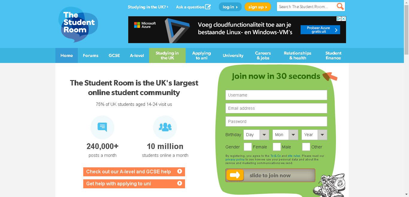 معرفی وبسایت Thestudentroom.co.uk