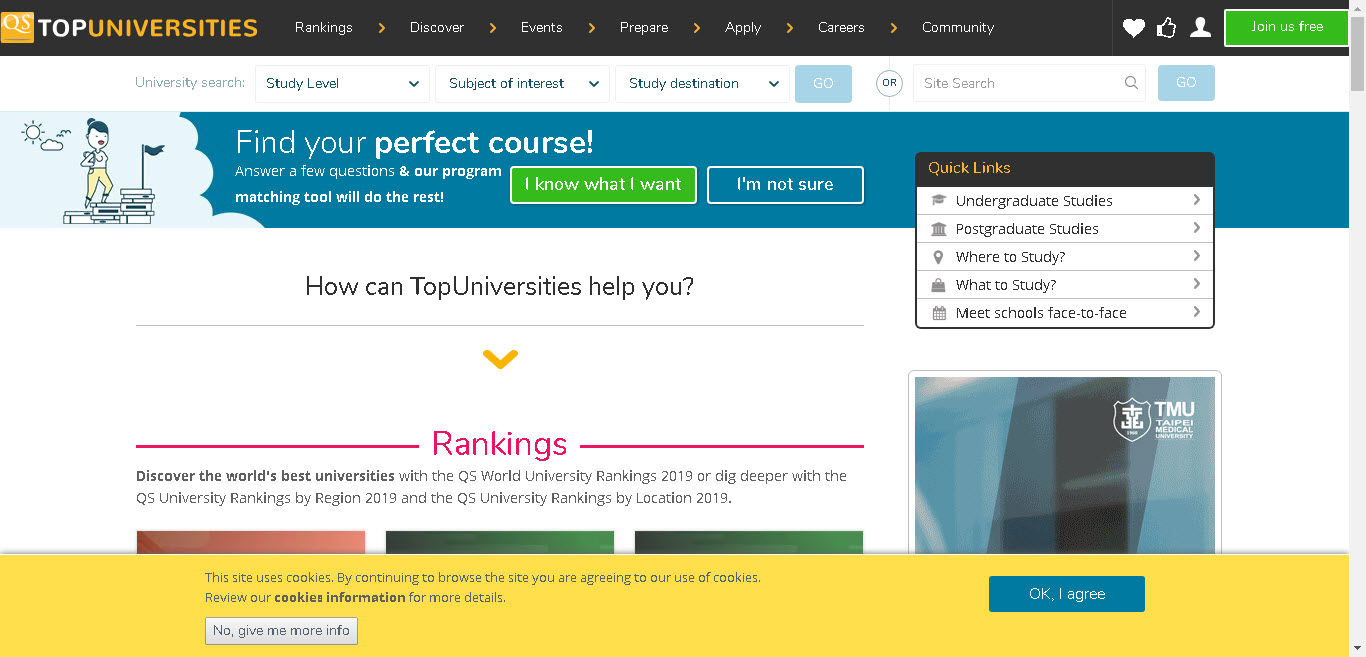 معرفی وبسایت  Top Universities