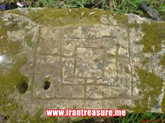 dama91 سنگ حكاكي شده به شكل جدول چهارخانه Dama