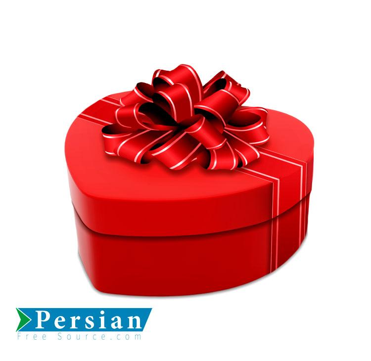 دانلود فایل رایگان جعبه کادو به شکل قلب قرمز | Red Heart Casual