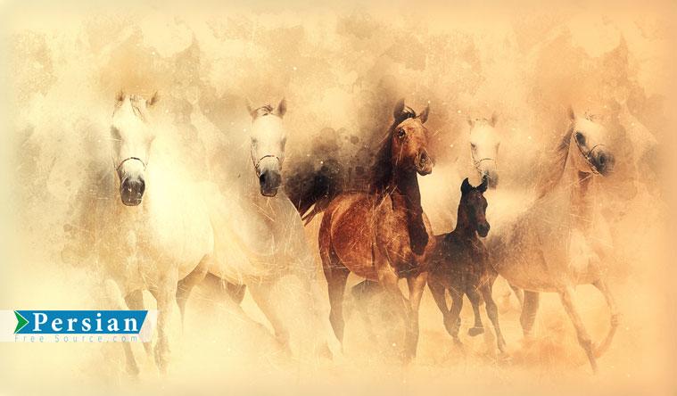 دانلود فایل رایگان نقاشی اسب