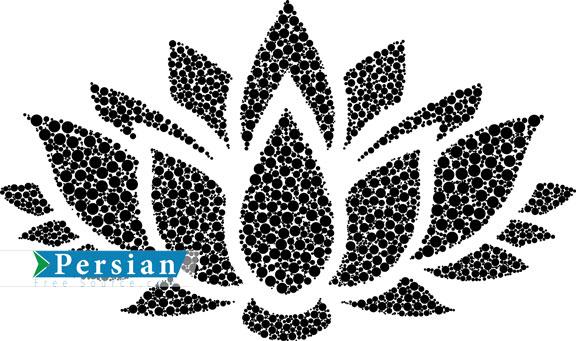 وکتور زیبای نقش و طرح گل نیلوفر