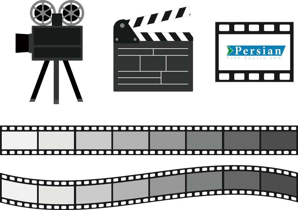 دانلود وکتور تجهیزات سینمایی