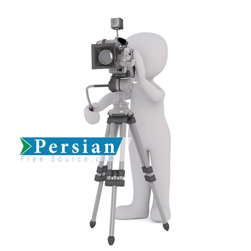 دانلود فایل سه بعدی ( ۳D Video Grapher ) آدمک فیلمبردار