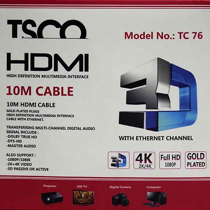 tsco tc 76 hdmi cable 10m tsco tc 76 hdmi cable 10m Tsco TC 76 HDMI Cable 10m Tsco TC 76 HDMI Cable 10m