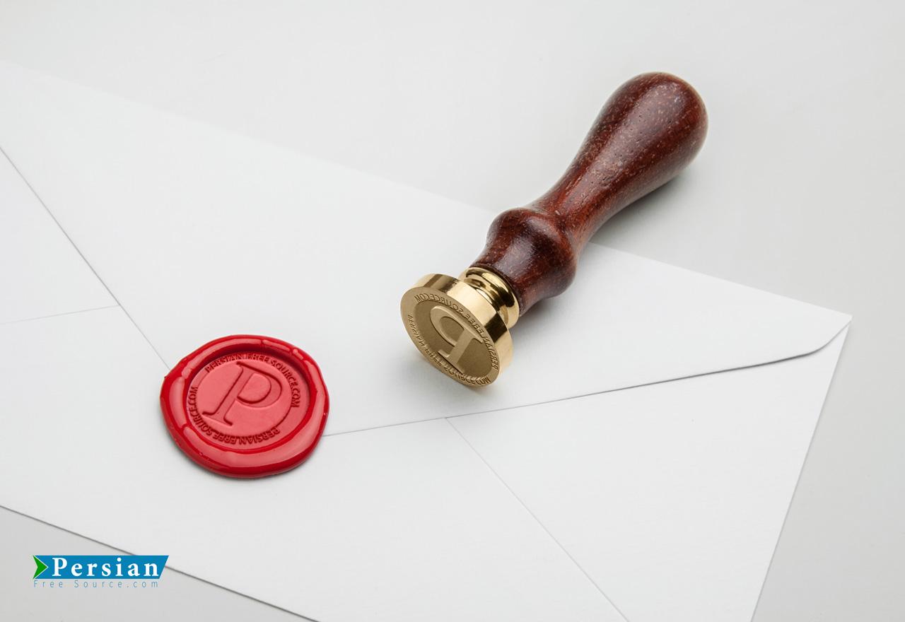 دانلود موکاپ مهر محرمانه بر روی پاکت نامه