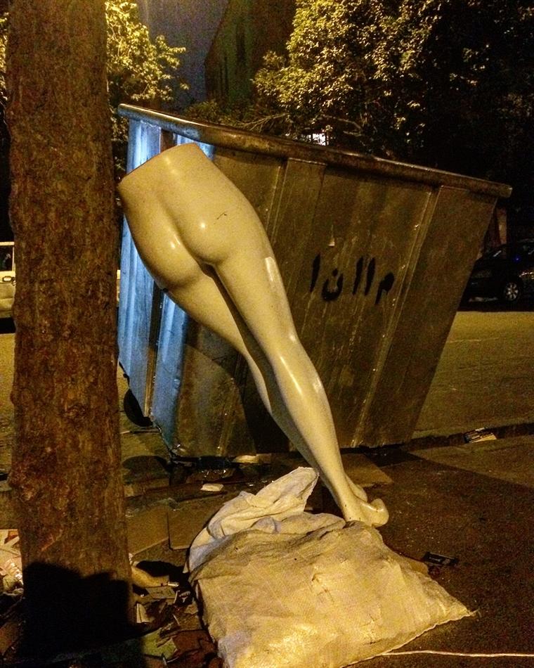 تهران،زباله،کون گلابی
