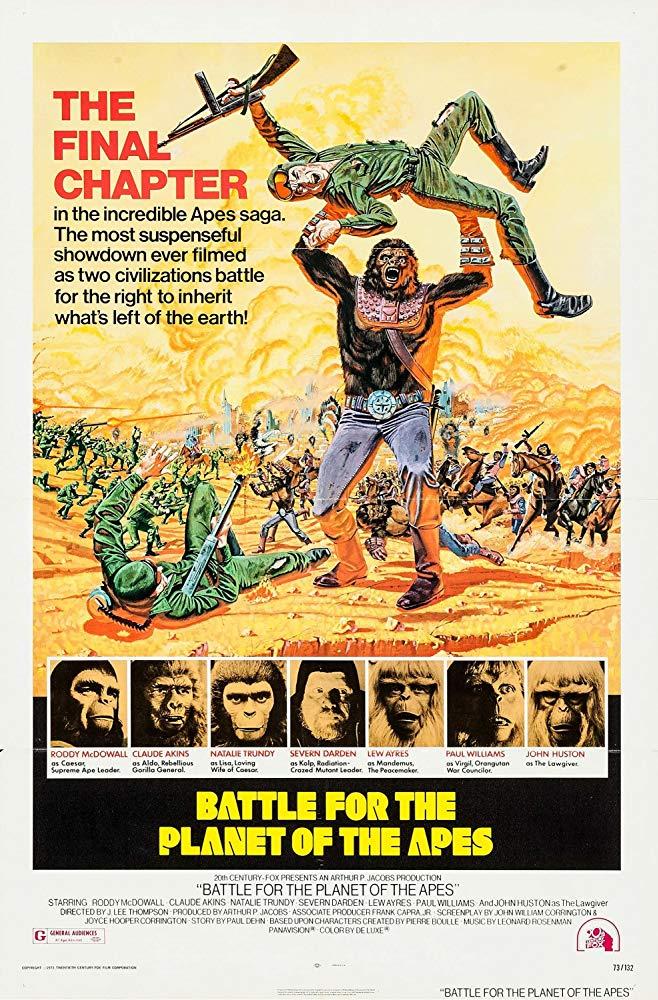 دانلود دوبله فارسی فیلم نبرد در سیاره میمونها Battle for the Planet of the Apes 1973